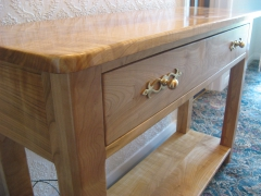 Cherry Wood Console by Uniqueworks Handmade Furniture.