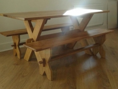 Cross-Legged Dining Set by Uniqueworks Handmade Furniture.