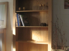 Georgian Style Oak Bookcase by Uniqueworks Handmade Furniture