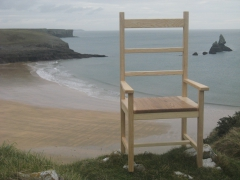 Welsh Ash Carver Chair on the Pembrokeshire Coastal Path