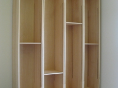 Modern Beech Bookcase by Uniqueworks Handmade Furniture