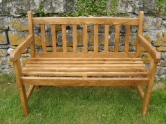 Welsh Oak Commemmorative Garden Bench by Uniqueworks Handmade Furniture