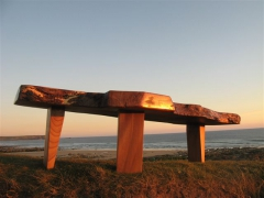 The Megalith Table - An Extraordinary Coffee Table Made from One Solid Piece of Natural Elm. UniqueworksHandmadeFurniture
