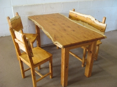 Welsh Yew Wood Dining Set by Uniqueworks Handmade Furniture