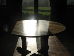 Bespoke Welsh Elm Circular Dining Table by Uniqueworks Handmade Furniture