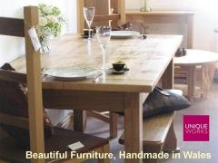 Uniqueworks Handmade Furniture Showroom - Oak Dining Table.