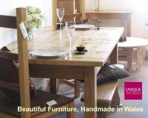 Uniqueworks Handmade Furniture Showroom. WelshCountryMagAdvert