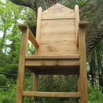 The Peoples Throne by Uniqueworks. Made of oak from the Botanic Garden of Wales