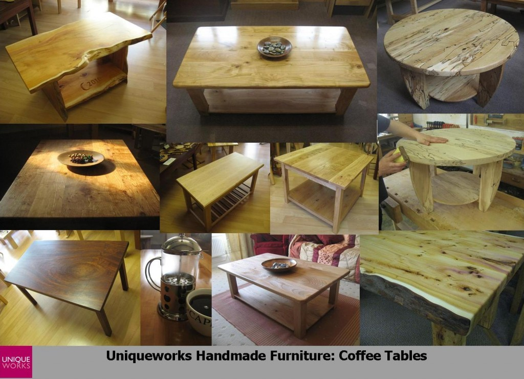 Coffee Tables Montage.Uniqueworks Handmade British Furniture