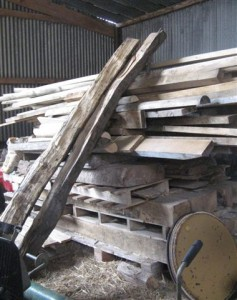 The Throne Was Created From These Old Planks
