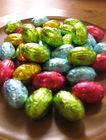 Easter Chocolates at Uniqueworks Handmade Furniture