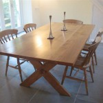 Bespoke Welsh Oak Cross-Legged Dining Table by Uniqueworks Handmade Furniture. small pic