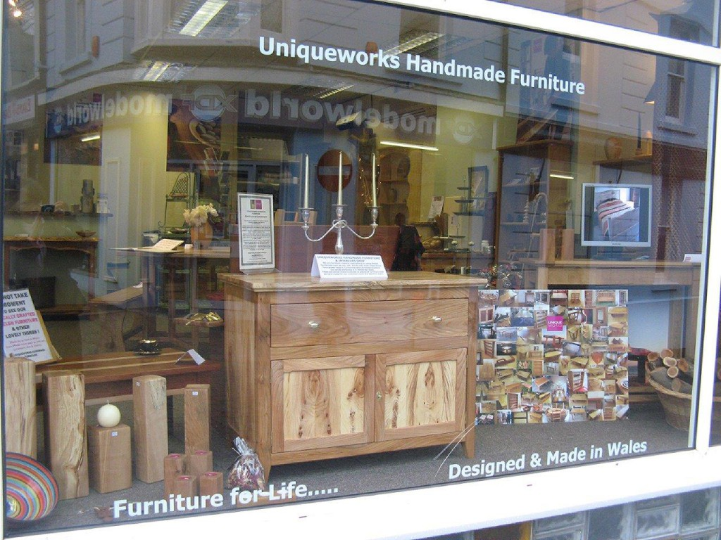 Uniqueworks Handmade Furniture & Interiors Shop Window. Horses Head Cabinet