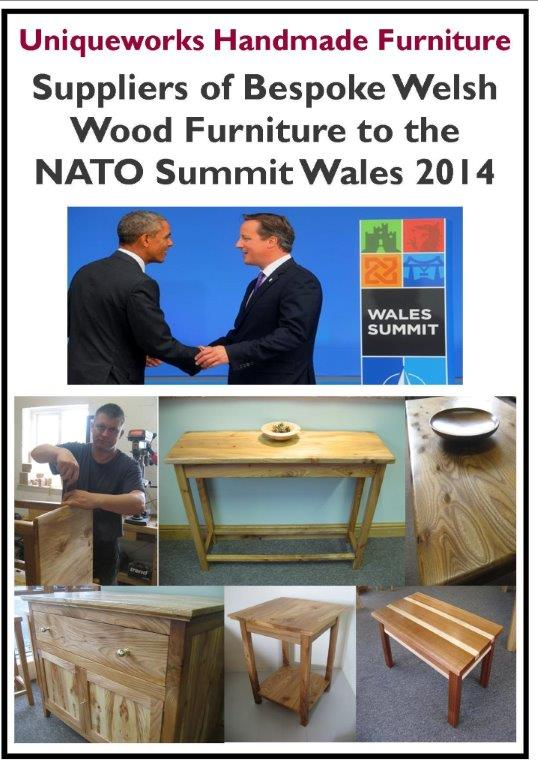 Uniqueworks Handmade Furniture - Suppliers of Bespoke Welsh Wood Furniture for the  NATO Summit Wales 2014.