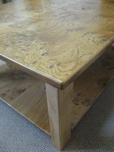 Welsh Lion-s Paw Oak Coffee Table by Uniqueworks Handmade Furniture. Corner