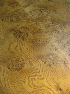 Welsh Lion-s Paw Oak Coffee Table by Uniqueworks Handmade Furniture. Top Detail Diag