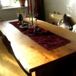 Yew Refectory Style Dining Table by Uniqueworks Handmade Furniture.