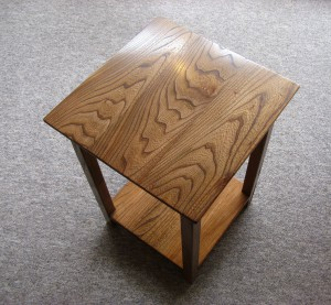 Little Welsh Elm Occasional Table by Uniqueworks Handmade Furniture.