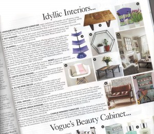 Uniqueworks Handmade Furniture - Feature in Vogue - Idyllic Interiors (Detail, Tilted)