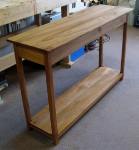 Large Welsh Elm Slab Console Table. SOLD