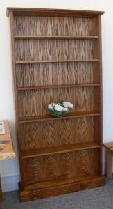 Chocolate Oak Bookcase.  SOLD