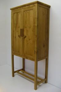 Tall Welsh Oak Cabinet.  SOLD