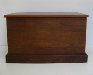 Dark Sapele Wood Chest. SOLD