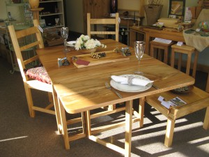 Lacewood Folding Dining Table.  SOLD