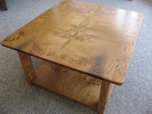 Solid Welsh Oak Coffee Table with Undershelf.   SOLD