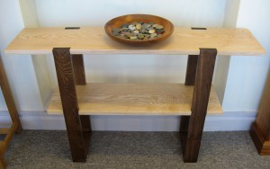 Contemporary Ash & Chocolate Oak Console Table by Uniqueworks Handmade Furniture