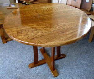 The Tiger Oak Table by Uniqueworks Handmade Furniture.