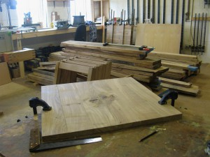 The First Table Top in Progress for the Uniqueworks - Pembroke Castle Furniture Project