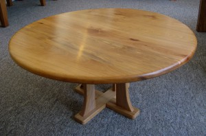 Welsh Beechwood Pedestal Coffee Table.  SOLD