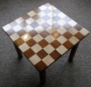 Checkerboard Oak & Sycamore Occasional Table.  SOLD