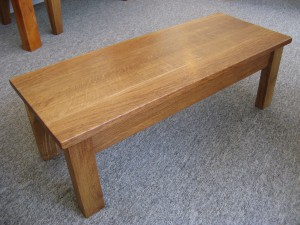 Classic Dark Welsh Oak Coffee Table.