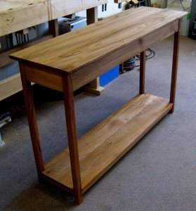 Large Welsh Elm Console Table.  SOLD