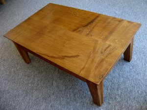 Contemporary Style Dark Oak Coffee Table.   SOLD