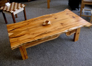 Funky Natural Edge Yew Coffee Table.  SOLD