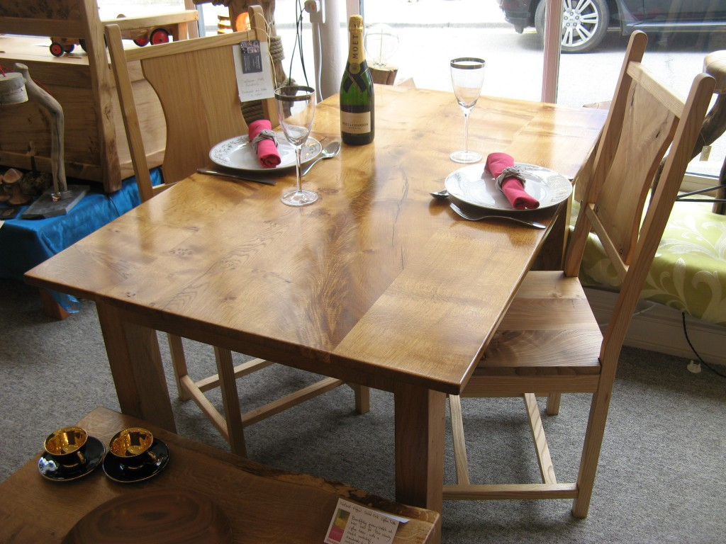 Welsh Oak Picton Castle DiningTable by Uniqueworks Handmade Furniture.1