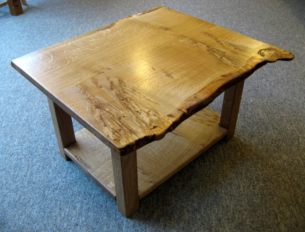 Wavy Edged Welsh Oak Coffee Table by Uniqueworks Handmade Furniture, Narberth