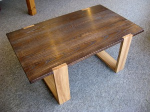 Contemporary Stained Ash Coffee Table.