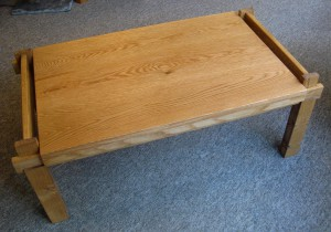 The Instant Table - Oak Coffee Table.  SOLD