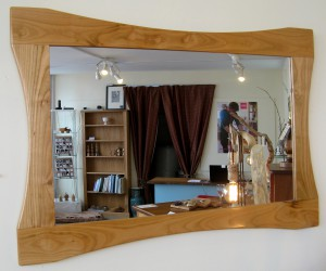 Cherrywood Curvy Mirror by Uniqueworks Handmade Furniture. IMG_9538