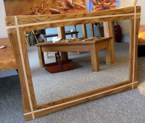 Dark Elm & Ash Inlay Mirror (Larger) by Uniqueworks Handmade Furniture. IMG_9547