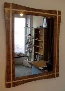 Dark Elm & Ash Inlay Mirror by Uniqueworks Handmade Furniture. IMG_9534