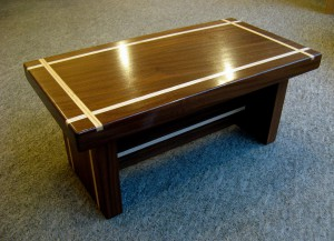 Rosewood & Ash Inlay Low Occasional Table.   £345