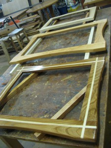 Uniqueworks Mirrors in Process at the Workshop. IMG_9522