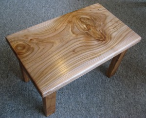 Swirly Elm Wood Coffee Table. SOLD