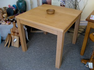 Square Maple Dining Table. SOLD