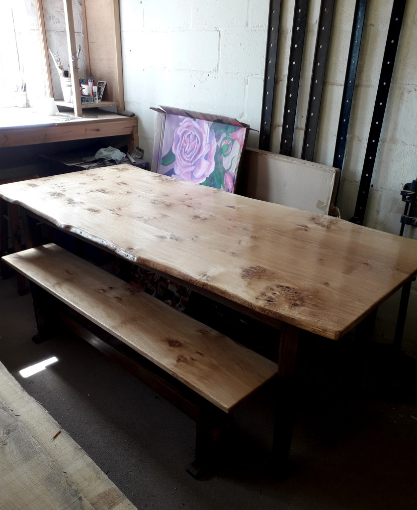 Mid Century Style Natural Edge Dining Table by Uniqueworks Handmade Furniture